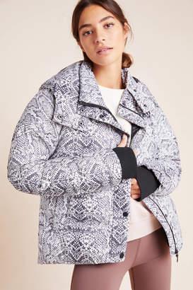 Varley Highland Snake-Printed Puffer Jacket