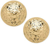 Macy's Crystal-Cut Ball Stud Earrings (8mm) in 14k Gold