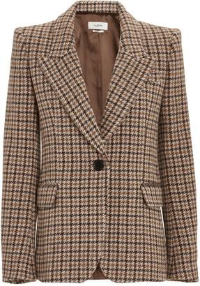 Etoile Isabel Marant Kerstin Virgin Wool Houndstooth Blazer