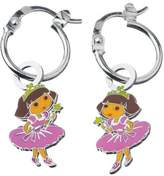 Dora the Explorer Children's Earrings / Creoles Princesse Sterling Silver Rhodium-Plated 925 / 1000 Enamel 3131076 1.9 g