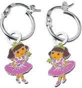 Dora the Explorer Children's Earrings / Creoles Princesse Sterling Silver Rhodium-Plated 925 / 1000 Enamel 3131076 1.9 g