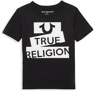 True Religion Little Boy's Tape Logo T-Shirt