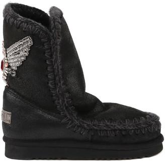Mou Eskimo 24 Eagle Patch Sheepskin Boots