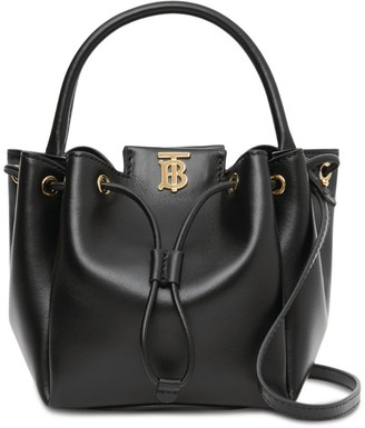 Burberry Leather TB Bucket Bag