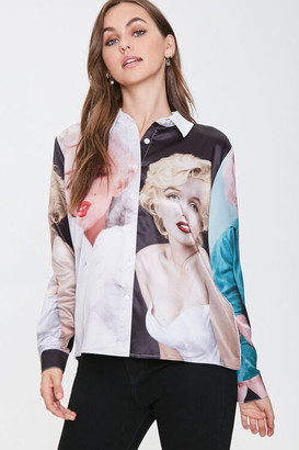 Forever 21 Marilyn Monroe Button-Front Shirt