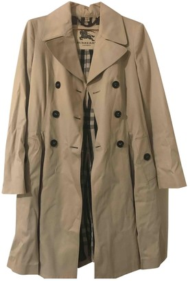 Burberry Camel Cotton Trench Coat for Women