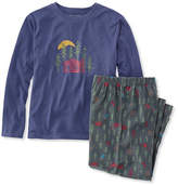 L.L. Bean Kids' L.L.Bean Flannel PJs, Tee and Pants Set