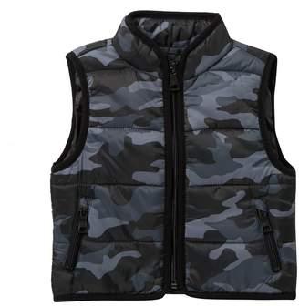 Urban Republic Camo Print Puffer Vest (Baby Boys)