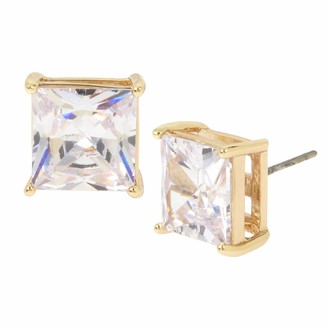 Kenneth Cole Large CZ Square Stone Stud Earrings