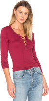 Velvet by Graham & Spencer Mandee Lace Up Top