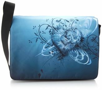 Luxburg® Luxburg Design Messenger Bag/College Bag/Daily Bag 17.3 Inches/Motif Flower Cities