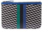 Pierre Hardy 'Perspective Cube' stripe print large pouch
