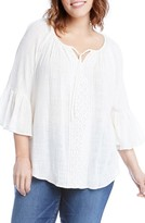 Karen Kane Plus Size Women's Bell Sleeve Top