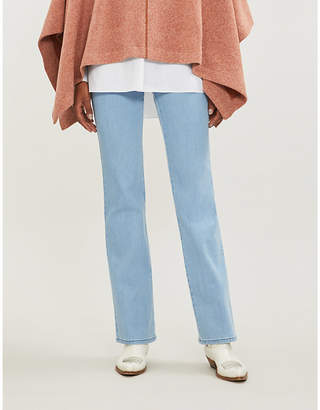 See by Chloe Ladies Poetic Blue Buttoned Side Flared High Rise Jeans