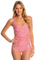 Betsey Johnson Carousel One Piece Swimsuit 8146577