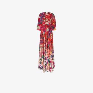 Mary Katrantzou Womens Red Go The Extra Mile Silk Maxi Dress