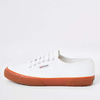 River Island Superga white gum sole runner trainers