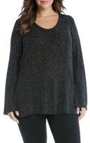 Karen Kane Diamond Dust V-Neck Top (Plus Size)