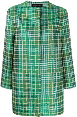 Gianluca Capannolo oversized houndstooth pattern coat