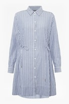 French Connection Tatus Stripe Drawstring Shirt Dress