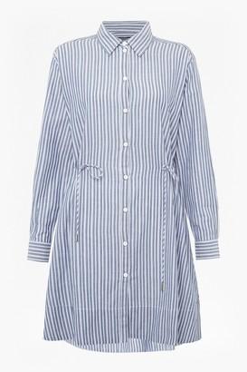 French Connection Tatus Stripe Drawstring Shirt Dress