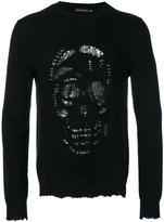 Alexander McQueen skull print top - men - Cashmere/Wool/Brass - S