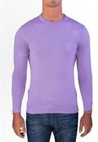Versace Men's Medusa Head Crew Neck Sweater Lavendar.
