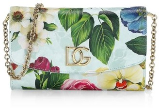Dolce & Gabbana Fiori Floral Leather Crossbody Bag