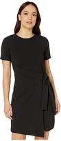 MICHAEL Michael Kors Petite T-Shirt Wrap Dress (Black) Women's Dress