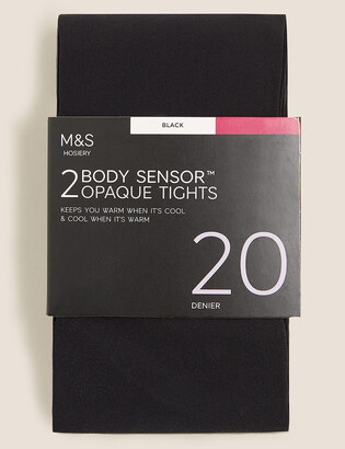 Marks and Spencer 2 Pack 20 Denier Body Sensor Opaque Tights