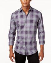Alfani Men's Plaid Long-Sleeve Shirt, Classic Fit