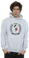 Disney Men's Mickey Mouse Laurel Hoodie Heather Grey