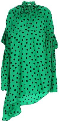 Balenciaga Polka-Dot Printed Dress