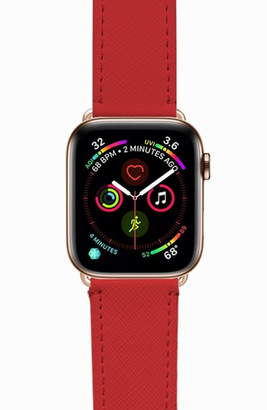 Casetify Essential Saffiano Faux Leather Apple Watch® Strap