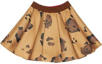 Mi Mi Sol Leo Print Viscose Blend Skirt