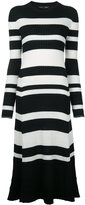 Proenza Schouler ribbed stripe midi dress - women - Silk/Viscose/Cashmere/Wool - S