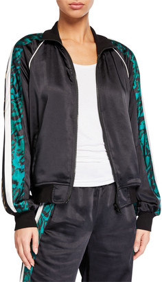 Pam & Gela Silky Side-Stripe Track Jacket