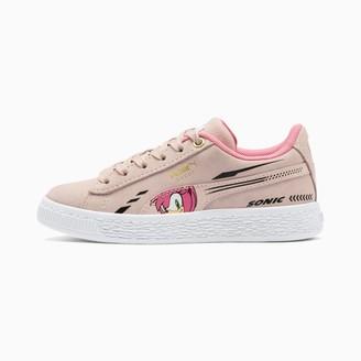 Puma x SONIC Suede Little Kids' Shoes