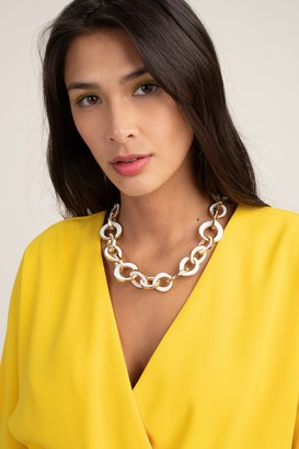 Trina Turk Modern Link Enamel Necklace