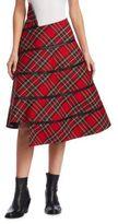 Junya Watanabe Tartan Plaid Wool Skirt