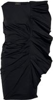 Lanvin Structured ruffled taffeta dress