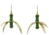 Annette Ferdinandsen Small Curled Jade Bamboo Earrings - Yellow Gold