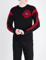 Philipp Plein Panelled wool jumper