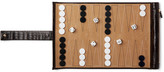 Smythson Mara Croc-Effect Leather and Suede Travel Backgammon Set