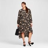 Women's Plus Size Long Sleeve Crepe Dress - Who What Wear