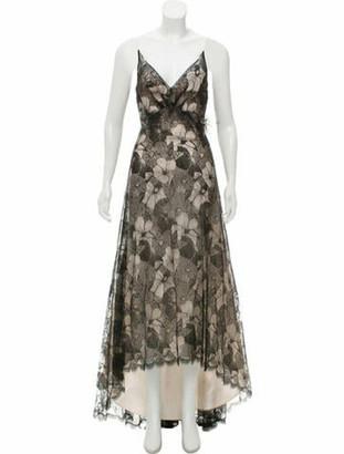Elizabeth Fillmore Sleeveless Lace Dress Black