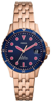 Fossil FB-01 Rose Gold-Tone Analogue
