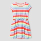 Cat & Jack Girls' Multi Stripe Dress Cat & Jack - Multi Colored