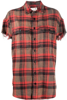 R 13 Check Short-Sleeve Shirt