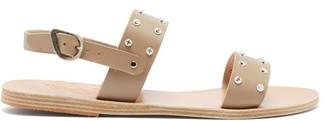 Ancient Greek Sandals Dinami Leather Slingback Sandals - Womens - Light Grey